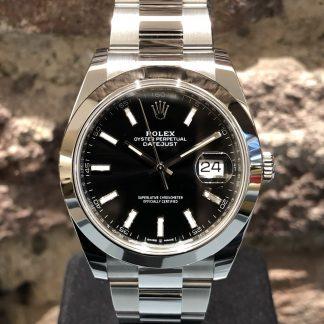 Rolex Datejust 41 Black, Ref.: 126300, neu/ungetragen LC100 11/2020